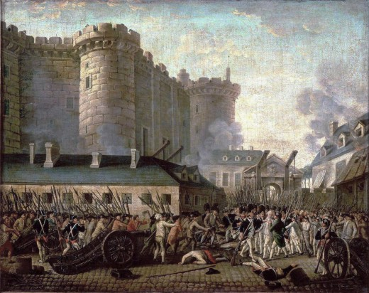Storming of the Bastille and arrest of the Governor M. de Launay, July 14, 1789