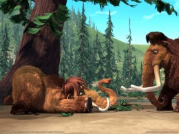 Manny and Ellie from Ice Age, two characters who influenced modern fame for the woolly mammoth.  Cloning of the Wooly Mammoth would excite kids everywhere!
