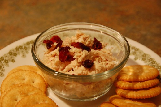 Chicken salad and Ritz crackers, a wonderful pair!