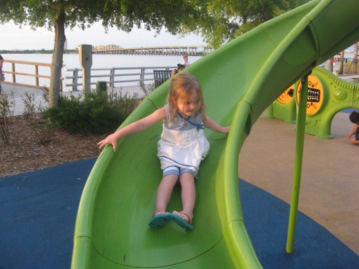 Brooklynn on a slide
