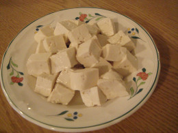 Fig. 5. Chopped Tufu cubes.