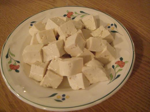 Fig. 5. Chopped Tufu cubes.