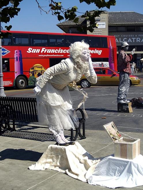 Pantomime Street Artist.