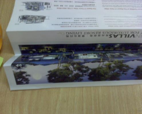 Fold the brochure