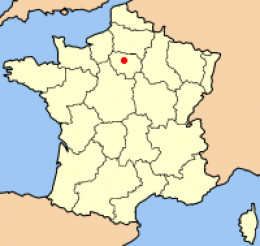 Map location of Paris, France