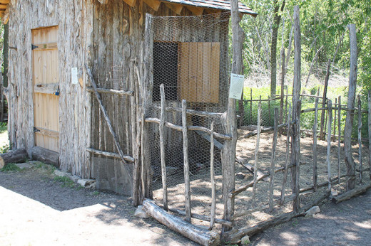 Sticks were even used to make the gate.