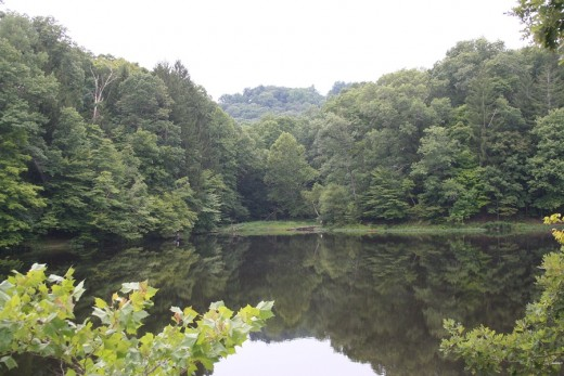 Strahl Lake in Brown County State Park