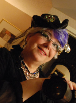 Me rocking the hair at the Steampunk World's Faire