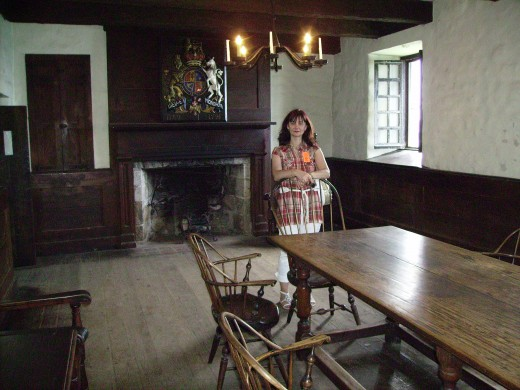Officers dining room in French Castle at Old Fort Niagara