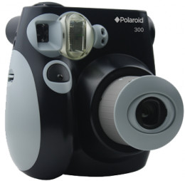 A Polaroid Camera with a comfortable grip. The Polaroid 300