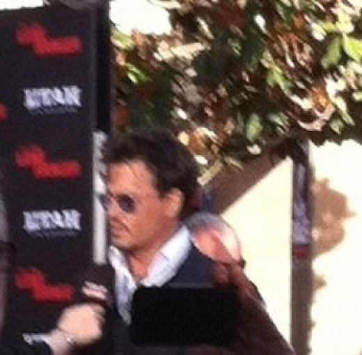 "Seeing Johnny Depp in person at the same theater where Aladdin show is! Click on ""Heaven Leigh"" for MORE!"