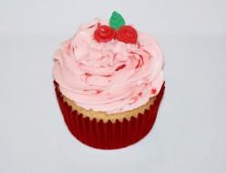 Island Bites: White Chocolate Cupcakes & Strawberry Frosting