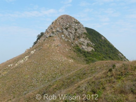 View of Sunset Peak, near Tung Chung, on Lantau Island, Hong Kong.