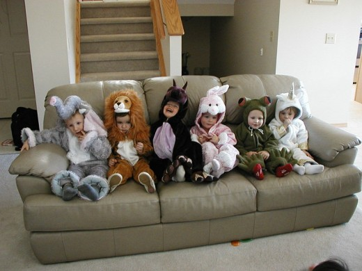 Little girls want to be different at halloween but still want to be like their friends.