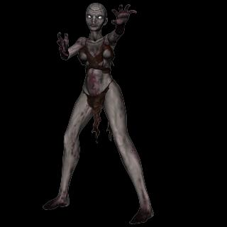 Withered but sexy zombie look!