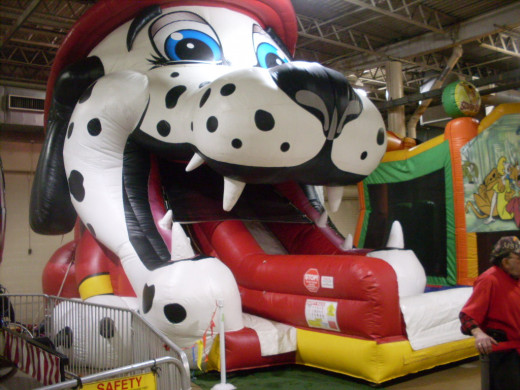 Slide right out of a dalmation's mouth !