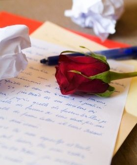 Feeling creative? Write down four to five cute lines that rhyme in a sweet poem.