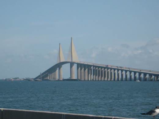 Sunshine Skyway Bridge across Tampa Bay