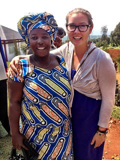 Claire with her Rwandan host mother. -Picture courtesy of Claire's blog