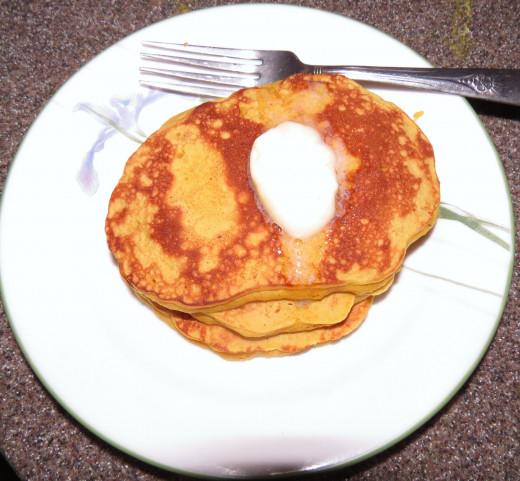 Cattail Pollen Pancakes