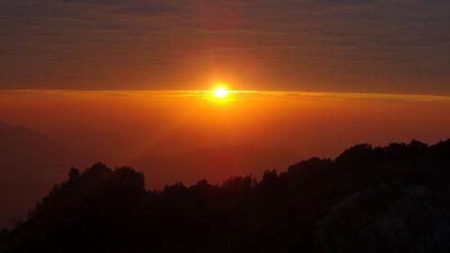 Sunrise at Moni in Flores Indonesia