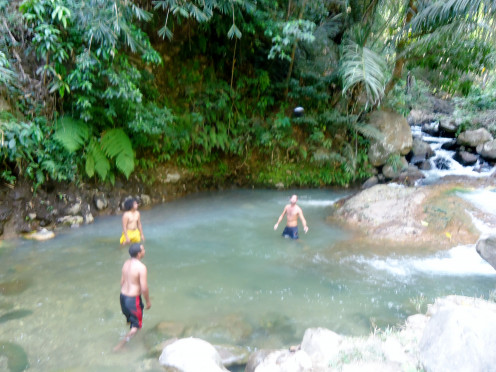 Natural Hot Springs at Bajawa in Flores, Indonesia