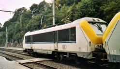 Electric locomotives at Dinant