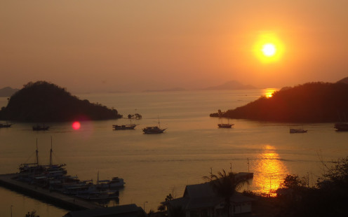 Sunset over Labuan Bajo, Flores
