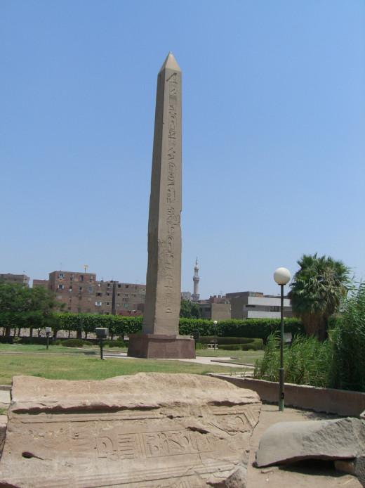 Obelisk standing in Heliopolis