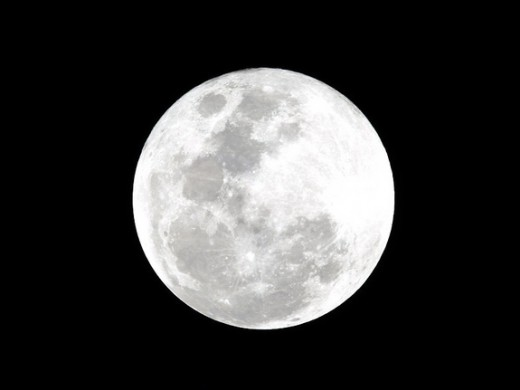 The only face of the moon we see