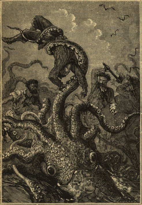 Illustration from 20,000 Leagues Under the Sea.