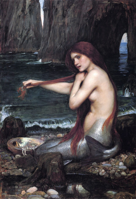 A Mermaid, John William Waterhouse (1901)
