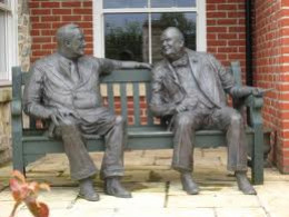 Share Bench with Roosevelt and Churchill