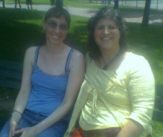 Kathryn and I chatted for an hour on Boston Common. Then we asked a fellow park visitor to take a picture of us.