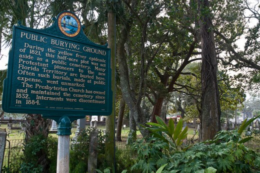 Burying Ground in Haunted St. Augustine.