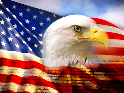 The American Flag and our Eagle