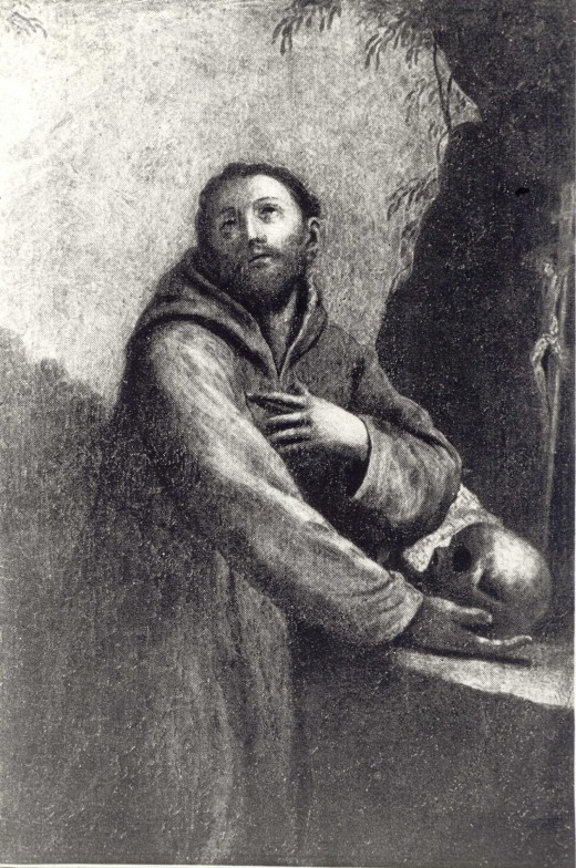 17th century picture of St. Francis of Assisi by Guido Reni