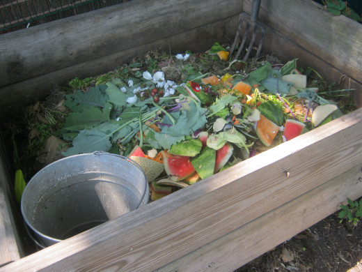 A homemade compost