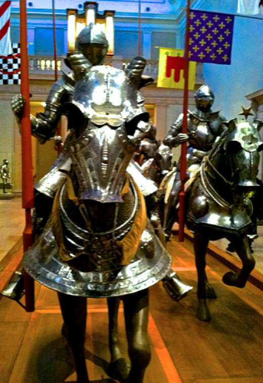 German armor made by the renown armorer Kunz Lochner, circa 1550.  (New York Metropolitan Museum)