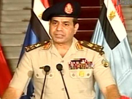 The head of Egypt's armed forces General Abdel Fattah al-Sisi on state television declared the removal of elected Islamist President Mohamed Morsi.