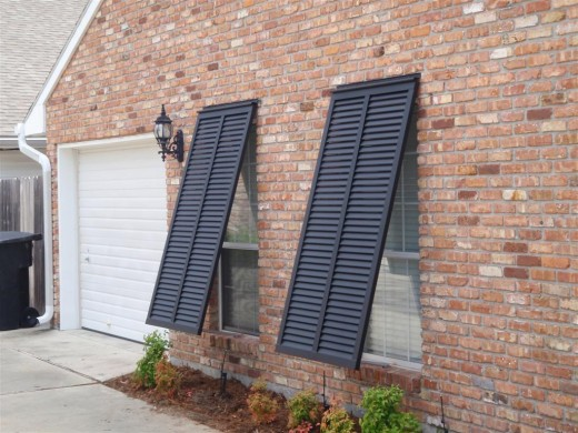 These shutters come in many different colors and styles