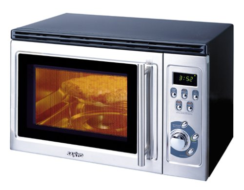A microwave oven is a kitchen appliance that cooks or heats food by dielectric heating.