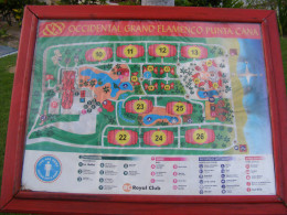 Map of the Occidental Grand Resort. Dominican Republic.