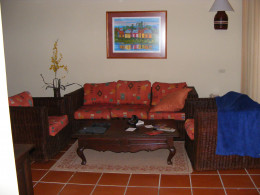 The sitting area in our Junior Suite. Right beside the patio. Perfect for relaxing after a long day out in the sun.