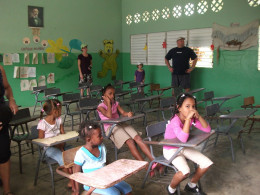 We paid a visit to a Dominican School. If you plan on going on such an excursion, hit up your local dollar store before you leave. We take for granted that we can get all kinds of school supplies for $20 here. The kids would benefit greatly from such