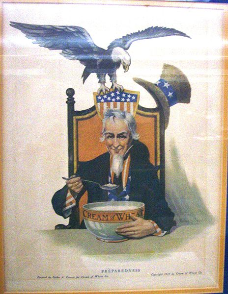 Uncle Sam and his Cream of Wheat, 1917.