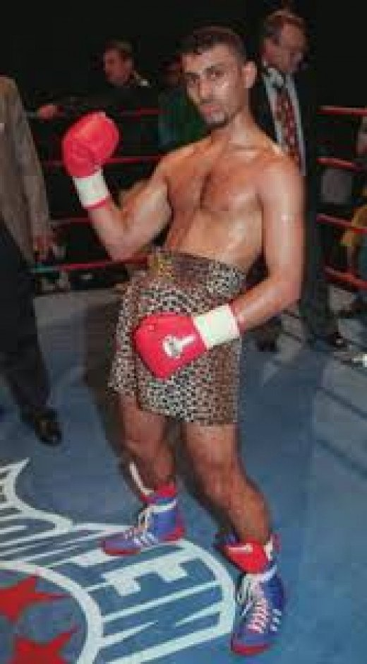 Prince Naseem Hamed of Sheffield, England would often dance to the ring and then flip over the rope when entering the ring.
