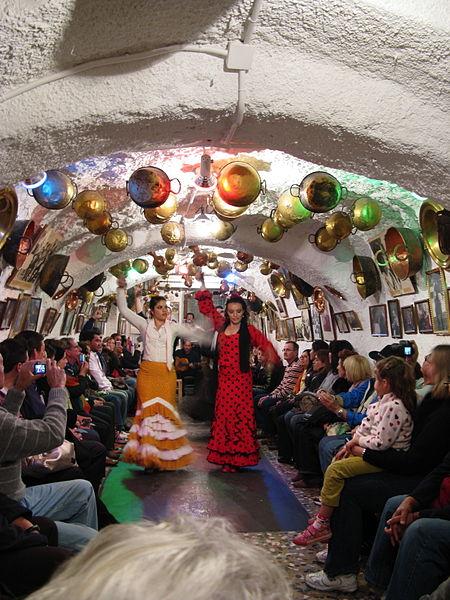Flamenco for tourists in Sacromonte, Granada.