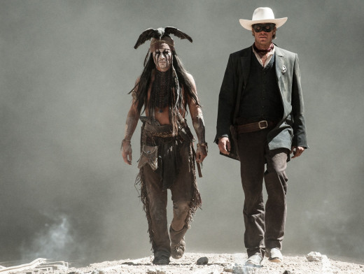 Johnny Depp stars as Tonto and Armie Hammer is the title character in Disney's The Lone Ranger