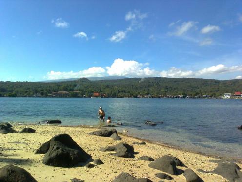 Enjoyed exclusive swimming at Lapinig Island while island hopping.